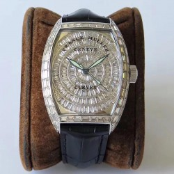 Replica Franck Muller Cintree Curvex 8880 CC AT D ABF Stainless Steel & Diamonds Diamond Dial Swiss 2824-2