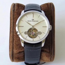 Replica Girard Perregaux 1966 Tourbillon Sous Pont D'Or 99535-53-131-BK6A N Stainless Steel White Dial Swiss Tourbillon