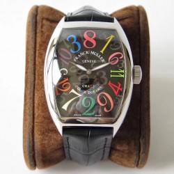 Replica Franck Muller Crazy Color Dreams FM 8880 CH COL DRM AB Stainless Steel Black Dial Swiss 2824-2