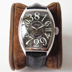 Replica Franck Muller Crazy Hours FM 8880 AB Stainless Steel Black Dial Swiss 2824-2
