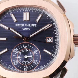 Replica Patek Philippe Nautilus Chronograph 5980/1AR-001 PP Rose Gold & Stainless Steel Blue Dial Swiss 7750