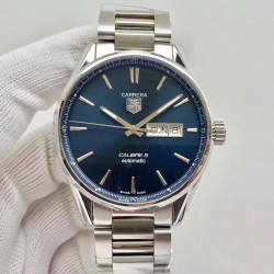 Replica Tag Heuer Carrera Calibre 5 Day-Date 41MM WAR201E.BA0723 N Stainless Steel Blue Dial Swiss 2836-2