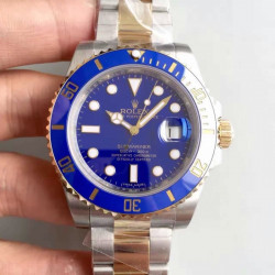 Replica Rolex Submariner Date 116613LB 2018 N V8S 24K Yellow Gold Wrapped & Stainless Steel Blue Dial Swiss 3135