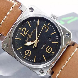 Replica Bell & Ross BR 03 92 Stainless Steel Black Dial M9015