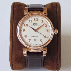 Replica IWC Da Vinci Automatic IW356601 MK Rose Gold White Dial Swiss 2892
