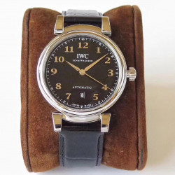 Replica IWC Da Vinci Automatic IW356601 MK Stainless Steel Black Dial Swiss 2892