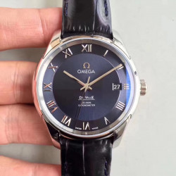 Replica Omega De Ville Co-Axial 41MM 431.13.41.21.03.001 3S Stainless Steel Blue Dial Swiss 8500