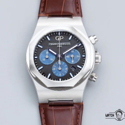 Replica Girard Perregaux Laureato Chronograph 42MM 81020-11-631-11A TWA Stainless Steel Black Dial Swiss 7750