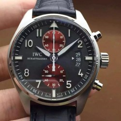 Replica IWC Pilot IW387808 Chronograph Stainless Steel Black & Red Dial Swiss 7750