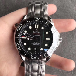 Replica Omega Seamaster Diver 300M 210.30.42.20.01.001 UR Stainless Steel Black Dial Swiss 8800