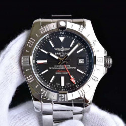 Replica Breitling Avenger II GMT A3239011/BC35/170A GF Stainless Steel Black Dial Swiss 2836-2