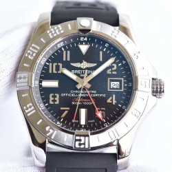 Replica Breitling Avenger II GMT A3239011/BC34/152S/A20S.1 GF Stainless Steel Black Dial Swiss 2836-2