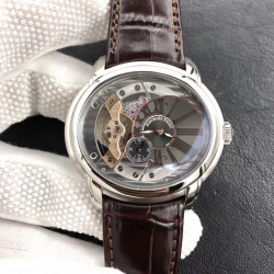 Replica Audemars Piguet Royal Millenary 4101 15350ST.OO.D002CR.01 V9 Stainless Steel Skeleton Dial Swiss 4101
