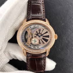 Replica Audemars Piguet Royal Millenary 4101 15350 V9 Yellow Gold & Diamonds Rose Gold Skeleton Dial Swiss 4101