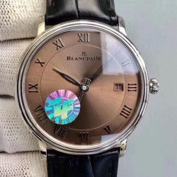 Blancpain Villeret Ultraplate 6651 ZF Stainless Steel Brown Dial Swiss 1151