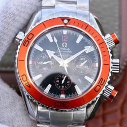 Replica Omega Seamaster Planet Ocean 600M Chronograph 232.30.46.51.01.002 Noob Stainless Steel Black Dial Swiss 7750