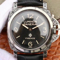 Replica Panerai Luminor Firenze 1950 3 Days PAM972 V9 Stainless Steel Black Dial Swiss P3000