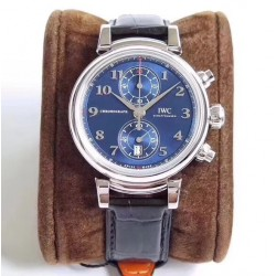 Replica IWC Da Vinci Chronograph Edition Sport For Good Fundation IW393402 ZF Stainless Steel Blue Dial Swiss 7750