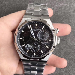 Replica Vacheron Constantin Overseas Dual Time 47450/B01A TWA Stainless Steel Black Dial Swiss 1222 SC