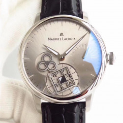 Replica Maurice Lacroix Roue Carree Seconde MP7158-SS001-901 AM Stainless Steel Silver Dial Swiss ML 156