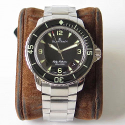 Replica Blancpain Fifty Fathoms 5015 1130 71 ZF Stainless Steel Black Dial Swiss 2836-2