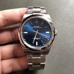 Replica Rolex Oyster Perpetual 39 114300 GM Stainless Steel 904L Blue Dial Swiss 3132