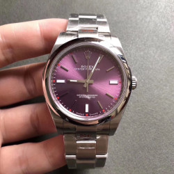 Replica Rolex Oyster Perpetual 39 114300 GM Stainless Steel 904L Red Dial Swiss 3132