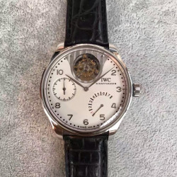 Replica IWC Portuguese Tourbillon Mystery IW504204 TF Stainless Steel White Dial Swiss 50900
