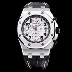Replica Audemars Piguet Royal Oak Offshore Pride Of Mexico 26297IS.OO.D101CR.01 JF V2 Stainless Steel White Dial Swiss 7750