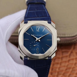 Replica Bvlgari Octo Finissimo 103035 JL Stainless Steel Blue Dial Swiss 2824-2