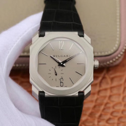Replica Bvlgari Octo Finissimo 103035 JL Stainless Steel Grey Dial Swiss 2824-2