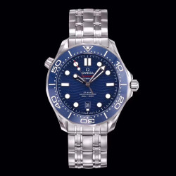 Replica Omega Seamaster Diver 300M 210.30.42.20.03.001 OM Stainless Steel Blue Dial Swiss 8800