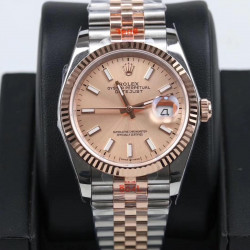 Replica Rolex Datejust 36MM 116231 GM Stainless Steel 904L & Rose Gold Rose Gold Dial Swiss 2824-2