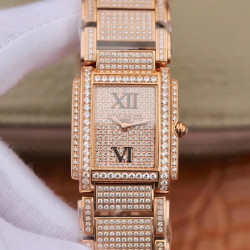 Replica Patek Philippe Ladies Twenty-4 4910/11R AW Rose Gold & Diamond Diamond Dial Swiss Ronda Quartz