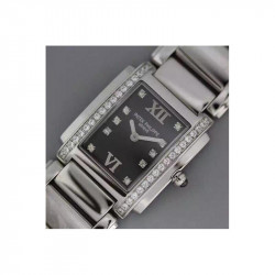 Replica Patek Philippe Ladies Twenty-4 4910/10A-001 Noob Stainless Steel Black Dial Swiss Ronda Quartz