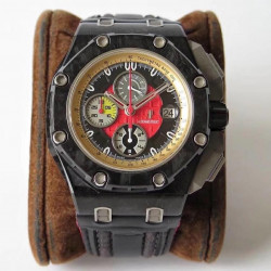 Replica Audemars Piguet Royal Oak Offshore Grand Prix 26290IO.OO.A001VE.01 JF V3 Forged Carbon Red Dial Swiss 3126