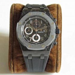 Replica Audemars Piguet Royal Oak Offshore Ginza 7 26205AU.OO.D002CR.01 JF V2 Forged Carbon Black Dial Swiss 3126