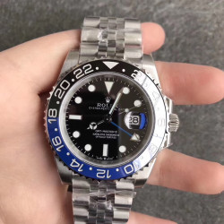 Replica Rolex GMT-Master II 116710BLNR EW Stainless Steel Black Dial Swiss 2836-2