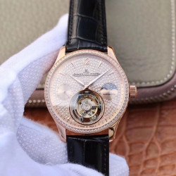Replica Jaeger-LeCoultre Master Tourbillon JIA Rose Gold & Diamonds Diamond Dial Swiss Tourbillon