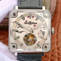 Replica Bell & Ross BR-X2 Tourbillon Micro-Rotor BBR V2 Stainless Steel & Sapphire Stainless Steel Dial Swiss BR-CAL.380