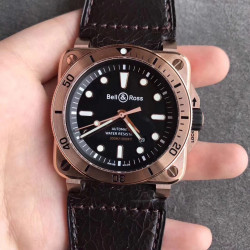 Replica Bell & Ross BR 03-92 Diver OX Rose Gold Black Dial M9015