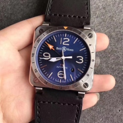 Replica Bell & Ross BR 03-93 GMT Noob Stainless Steel Blue Dial Swiss 2836-2