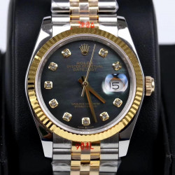 Replica Rolex Datejust 36MM 116233 GM Stainless Steel 904L & Yellow Gold Grey Mother Of Pearl Dial Swiss 2824-2
