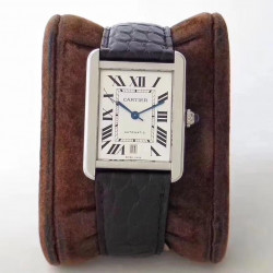 Replica Cartier Tank Solo 31MM Automatic W5200027 KZ  Stainless Steel White Dial M9015