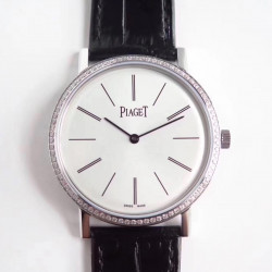 Replica Piaget Altiplano G0A29165 OX Stainless Steel & Diamonds White Dial M9015
