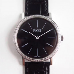 Replica Piaget Altiplano G0A29165 OX Stainless Steel & Diamonds Black Dial M9015