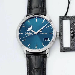 Replica Glashutte Senator Excellence Panorama Date Moon Phase 1-36-04-04-02-01 ETC Stainless Steel Blue Dial Swiss 36-04