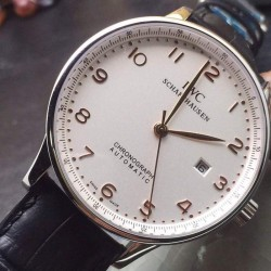 Replica IWC Portuguese Stainless Steel White Dial Swiss IWC 89000