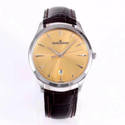 Replica Jaeger-LeCoultre Master Ultra Thin Date 1288420 ZF Stainless Steel Champagne Dial Swiss JLC 899/1