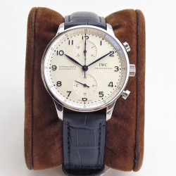 Replica IWC Portugieser Chronograph IW371446 ZF V2 Stainless Steel Silver Dial Swiss 7750